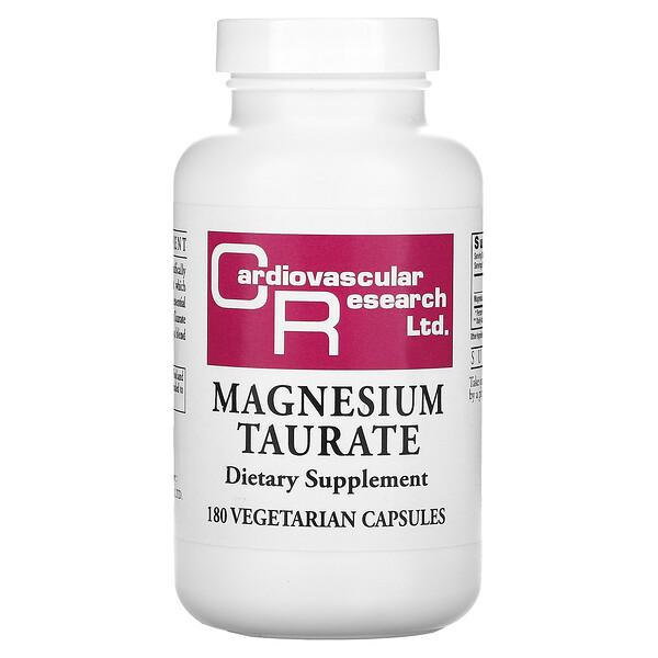 Magnesium Taurate, 180 Vegetarian Capsules
