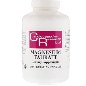 Кардиоваскуляр Ресерч, Magnesium Taurate, 180 Vegetarian Capsules отзывы
