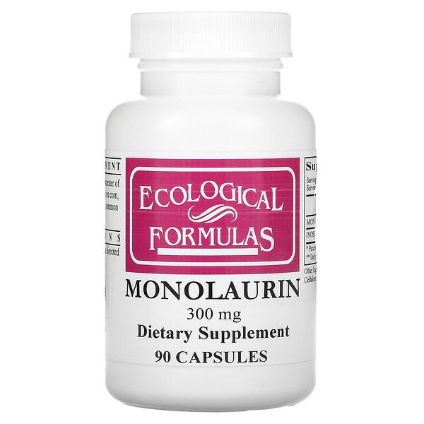 Monolaurin, 300 mg, 90 Capsules