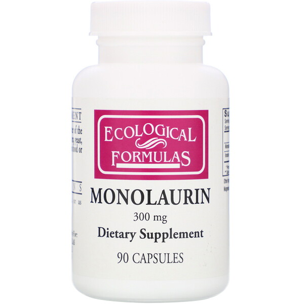 Monolaurin, 300 mg, 90 Capsules