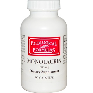 Cardiovascular Research Ltd., Ecological Formulas, Monolaurin, 600 mg, 90 Capsules