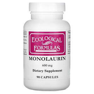 Ecological Formulas, Monolaurin, 600 mg, 90 Capsules отзывы покупателей