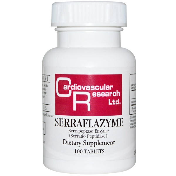 Cardiovascular Research, Serraflazyme, 100 Tabletas (Discontinued Item)