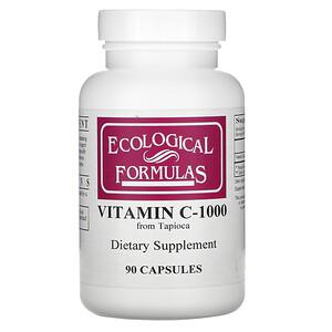 Ecological Formulas, Vitamin C-1000, 90 Capsules отзывы