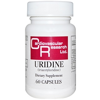 Cardiovascular Research Ltd., Uridine, 60 Capsules