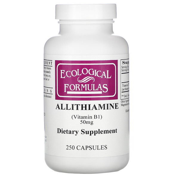 Ecological Formulas, Allithiamine (Vitamin B1), 50 mg, 250 Capsules
