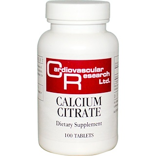 Cardiovascular Research, Calcium Citrate, 100 Tablets