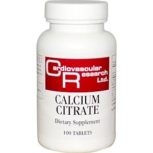 Кардиоваскуляр Ресерч, Calcium Citrate, 100 Tablets отзывы