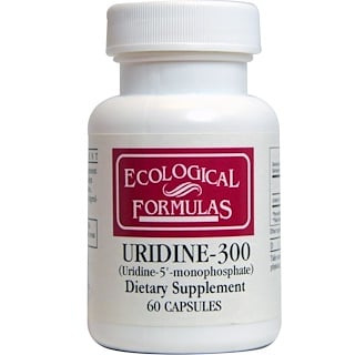 Cardiovascular Research Ltd., Ecological Formulas, Uridine-300, 60 Capsules