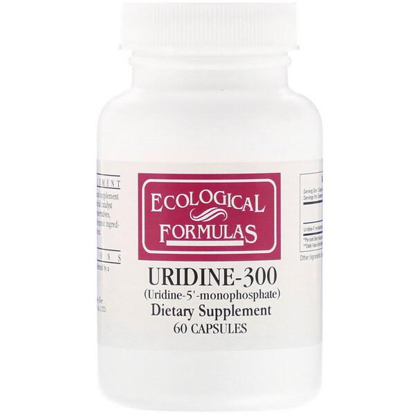Ecological Formulas, Uridine-300, 60 Capsules