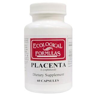 Cardiovascular Research Ltd., Ecological Formulas, плацента (лиофилизованная), 60 капсул
