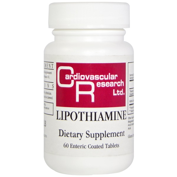 Cardiovascular Research Ltd., Lipothiamine, 60 Enteric Coated Tablets