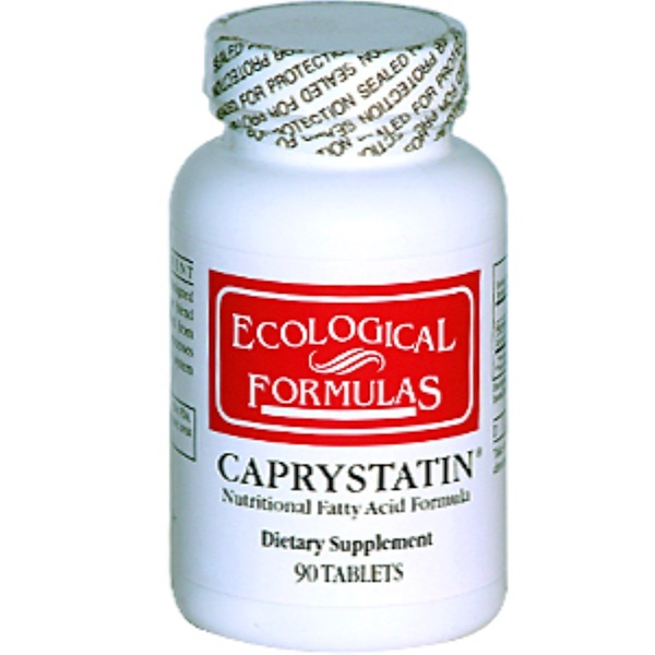 Cardiovascular Research Ltd., Ecological Formulas, Caprystatin, Nutritional Fatty Acid Formula, 90 Tablets (Discontinued Item)