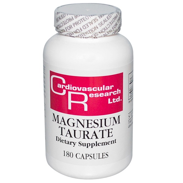 Cardiovascular Research Ltd., Magnesium Taurate, 180 Capsules (Discontinued Item)