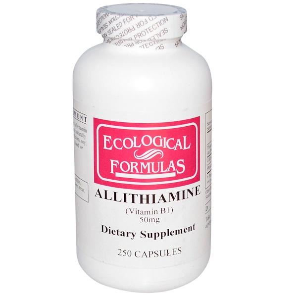 Cardiovascular Research Ltd., Ecological Formulas, Аллитиамин (Витамин В1) 250 капсул (Discontinued Item)