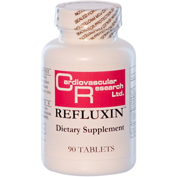 Cardiovascular Research Ltd., Refluxin, 90 Tablets (Discontinued Item)