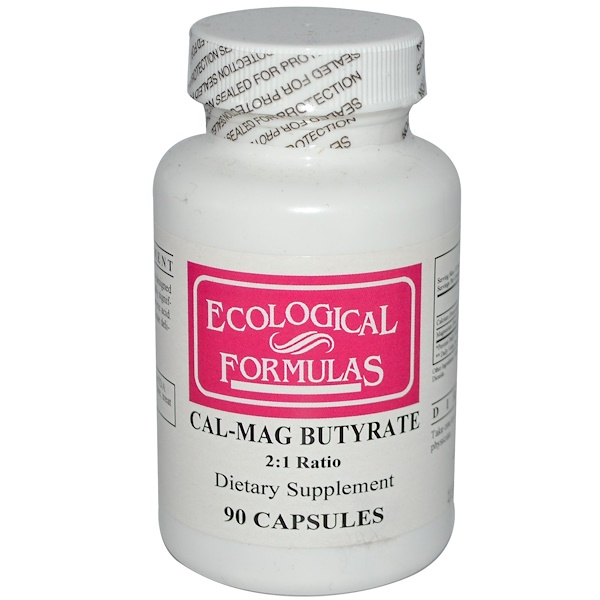 Cardiovascular Research Ltd., Ecological Formulas, Cal-Mag Butyrate, 90 Capsules (Discontinued Item)