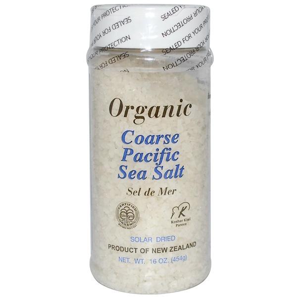 PRI, Organic Coarse Pacific Sea Salt, 16 oz (454 g) (Discontinued Item)