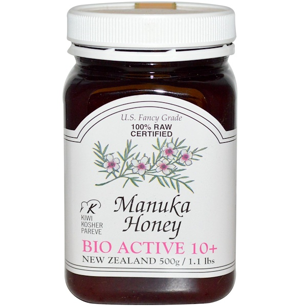 PRI, 100% Raw Certified Manuka Honey, Bio Active 10+, 1.1 lbs (500 g) (Discontinued Item)