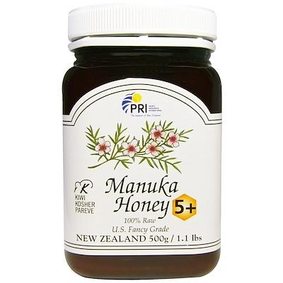 PRI 100%未加工麥盧卡蜂蜜5+,1.1磅(500g)