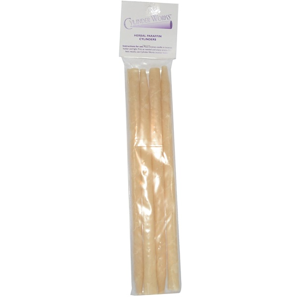 Cylinder Works, Incense Candles, Herbal Paraffin Cylinders, 4 Pack (Discontinued Item)
