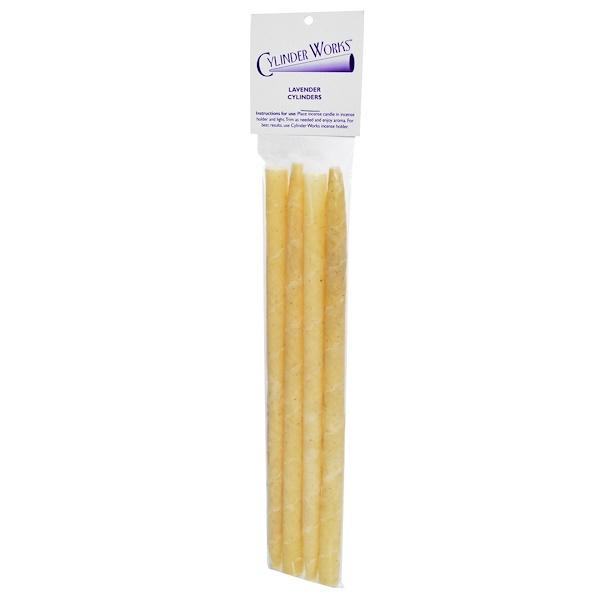 Cylinder Works, Incense Candles, Lavender Cylinders, 4 Pack (Discontinued Item)
