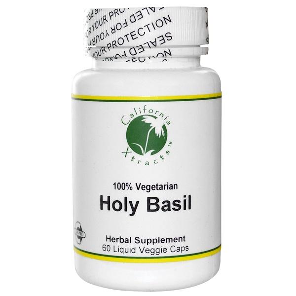 California Xtracts, Holy Basil, 60 Liquid Veggie Caps (Discontinued Item)