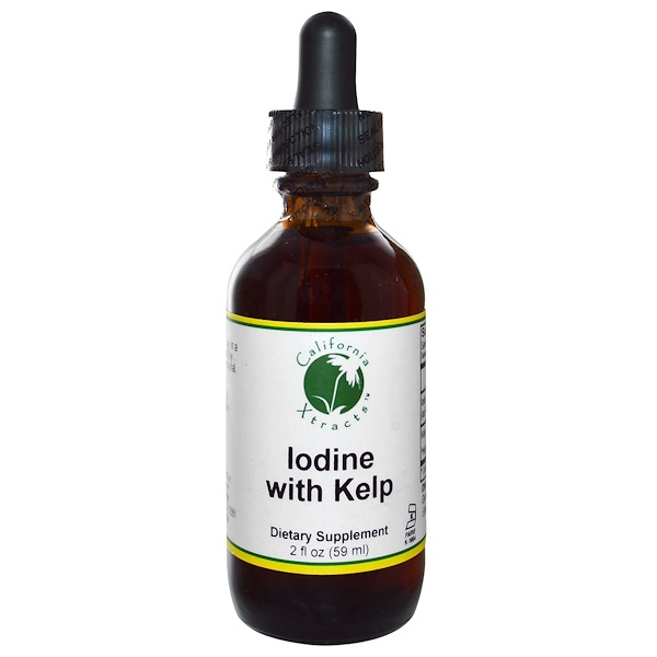California Xtracts, Iodine with Kelp, 2 fl oz (59 ml) (Discontinued Item)