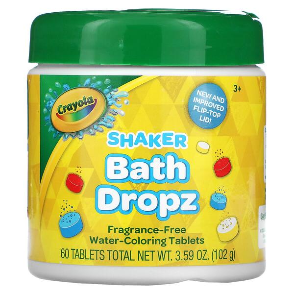 Shaker Bath Dropz, 3+, Fragrance-Free, 60 Tablets, 3.59 oz (102 g)