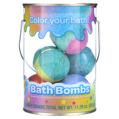 Crayola, Bath Bombs, Grape Jam, Laser Lemon, Cotton Candy & Bubble Gum Scented , 8 Bath Bombs, 11.29 oz (320 g)