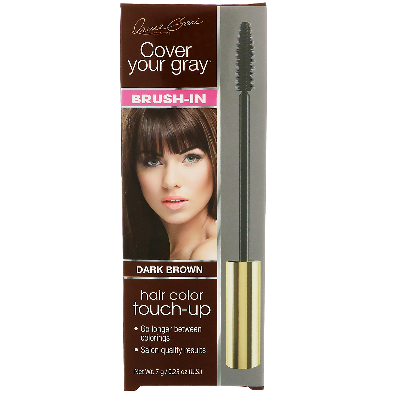 Cover Your Gray Brush In Hair Color Touch Up Dark Brown 025 Oz