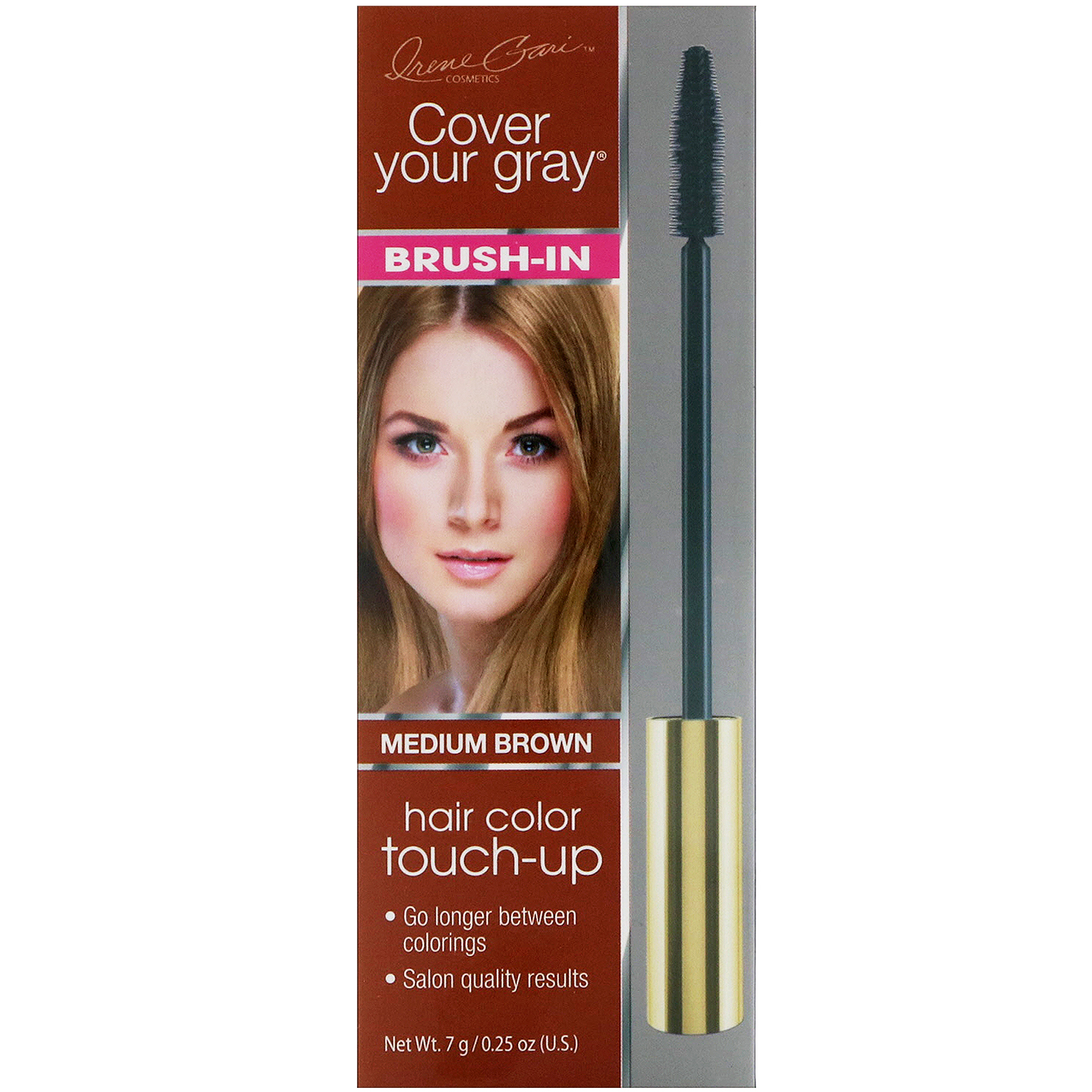 Cover Your Gray Brush In Hair Color Touch Up Medium Brown 025 Oz
