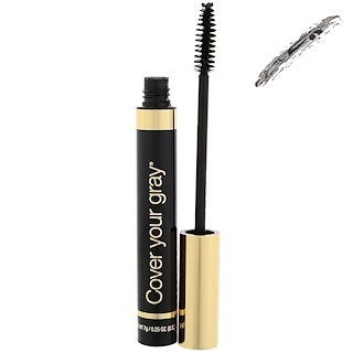 Cover Your Gray, Brush-In Hair Color Touch-Up, Black, 0.25 oz (7 g)
