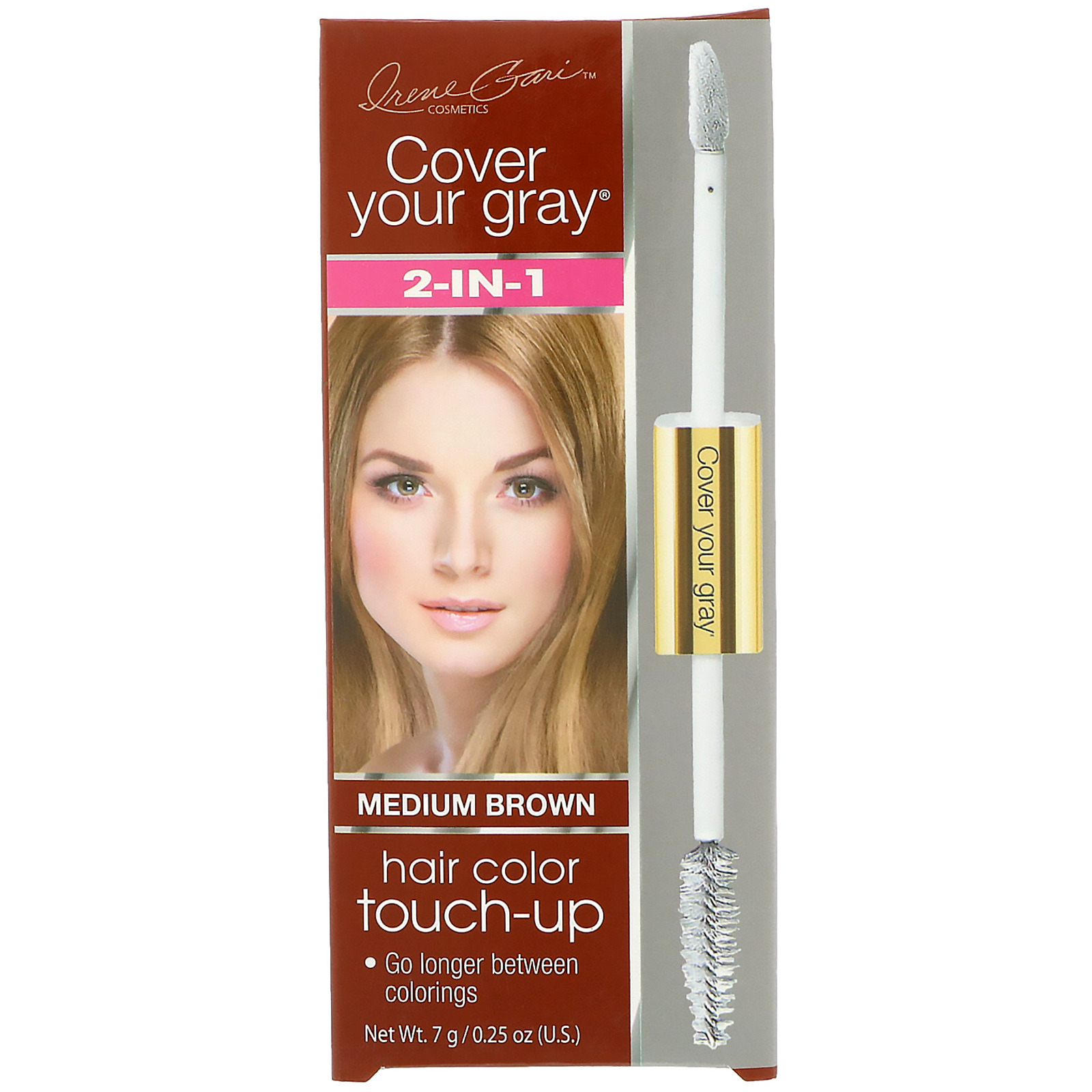 Cover Your Gray 2 In 1 Hair Color Touch Up Medium Brown 025 Oz