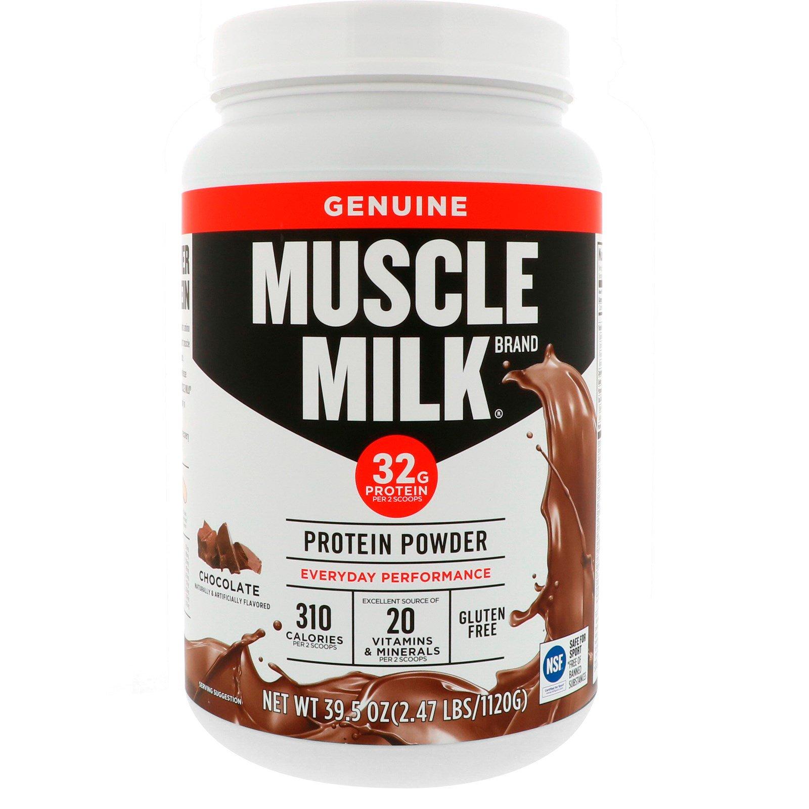 Cytosport, Inc, Оригинальный протеиновый порошок Muscle Milk, шоколад, 39,5 унций (1120 г)