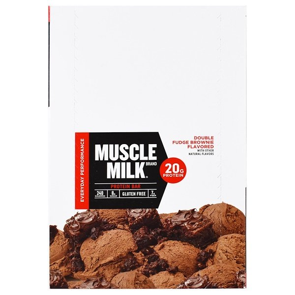 Cytosport, Inc, Muscle Milk Red Bar, Fudge Brownie, 12 Bars, 2.22 oz (63 g) Each (Discontinued Item)