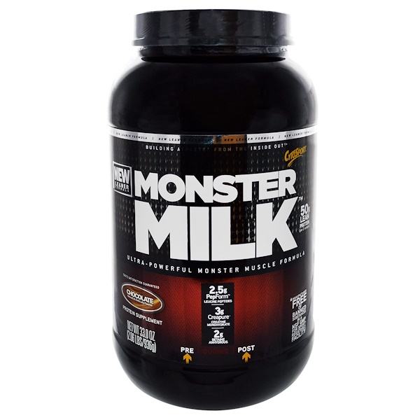 Cytosport, Inc, Monster Milk, Ultra-Powerful Monster Muscle Formula, Chocolate, 33 oz (936 g) (Discontinued Item)