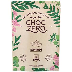 ChocZero, Dark Chocolate with Sea Salt, Almonds, Sugar Free, 6 Bars, 1 oz Each отзывы