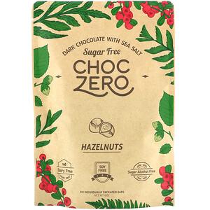 ChocZero, Dark Chocolate With Sea Salt, Hazelnuts, Sugar Free, 6 Bars, 1 oz Each отзывы