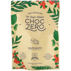 ChocZero, Milk Chocolate, Hazelnuts, No Sugar Added, 6 Bars, 1 oz Each отзывы