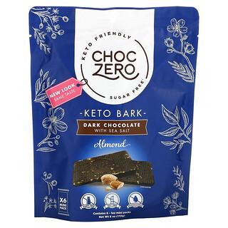 ChocZero, Dark Chocolate with Sea Salt, Almond, Sugar Free, 6 Mini Pack, 1 oz Each