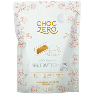 ChocZero, White Chocolate Peanut Butter Cups, 3 oz