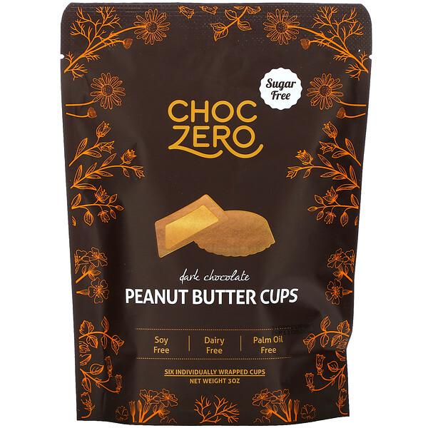 ChocZero, Dark Chocolate Peanut Butter Cups, 3 oz