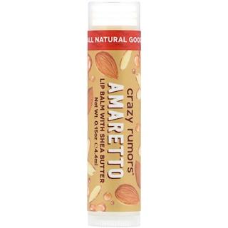 Crazy Rumors, Bálsamo para labios con manteca de karité, amaretto, 0.15 oz (4.4 ml)