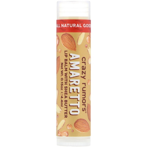 Crazy Rumors, Lip Balm with Shea Butter, Amaretto, 0.15 oz (4.4 ml) (Discontinued Item)
