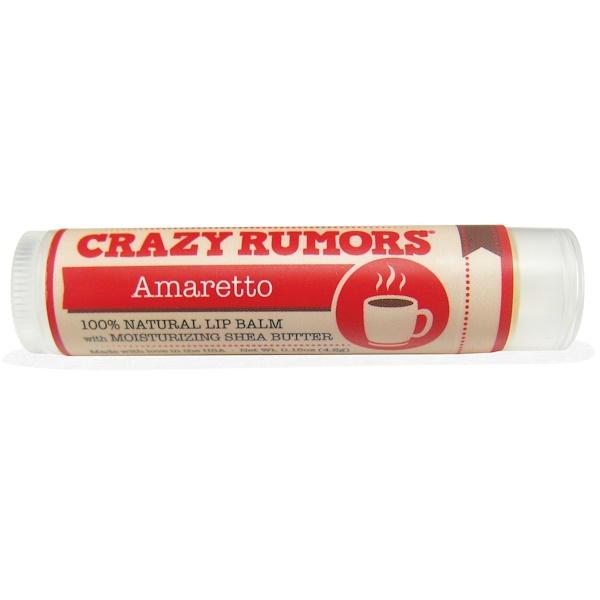 Crazy Rumors, 100% Natural Lip Balm, Amaretto, 0.15 oz (4.4 ml)