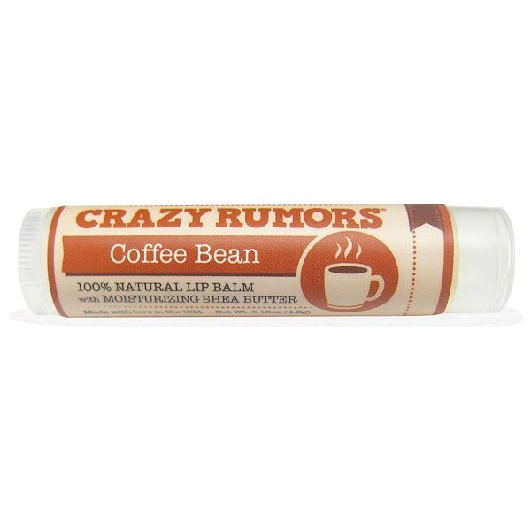 Crazy Rumors, 100% Natural Lip Balm, Coffee Bean, 0.15 oz (4.4 ml) (Discontinued Item)