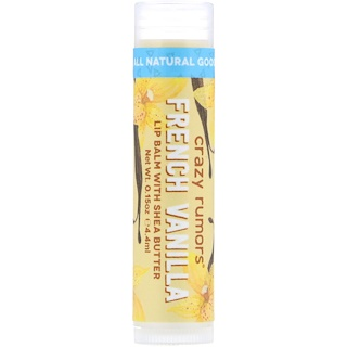 Crazy Rumors, Lip Balm With Shea Butter, French Vanilla, 0.15 oz (4.4 ml)