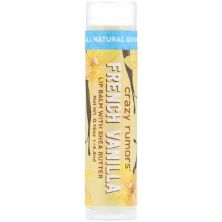 Crazy Rumors, Bálsamo para labios 100% natural, vainilla francesa, 0,15 oz (4,4 ml)