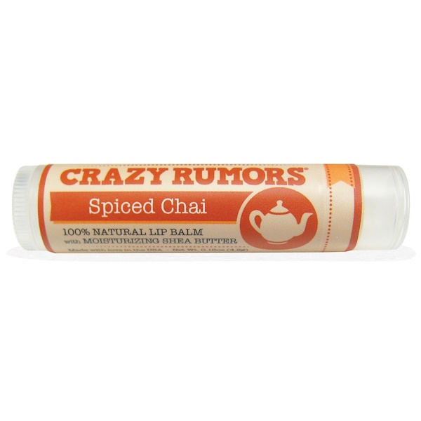 Crazy Rumors, 100% Natural Lip Balm, Spiced Chai, 0.15 oz (4.4 ml)